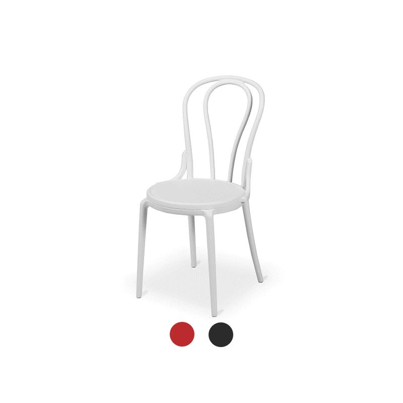 Restaurantstuhl/ Cafféstuhl MONET weiß
