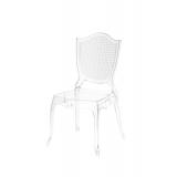 Der Stuhl für Braut und Bräutigam AMOR Transparent
