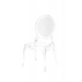 Der Stuhl für Braut und Bräutigam DIANA transparent