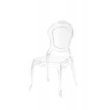 Der Stuhl für Braut und Bräutigam LUNA transparent