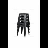 Schemel PARIS inspiriert von TOLIX mit einem Holzsitz